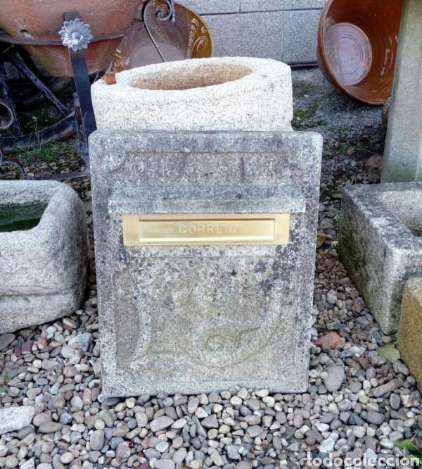 BUZON DE CORREO EN PIEDRA DE GRANITO (Arte - Escultura - Piedra)