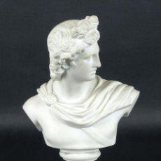 Busto neoclásico en porcelana de biscuit principios siglo XX