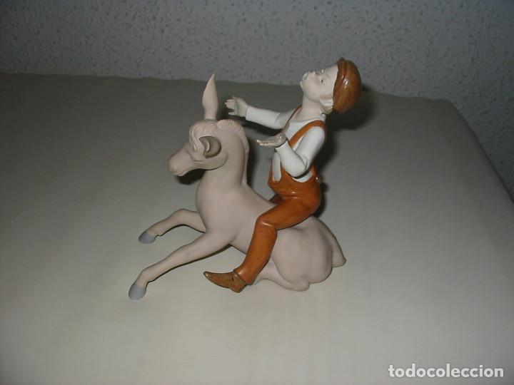 Arte: Niño sobre un burro, - Foto 4 - 85166452