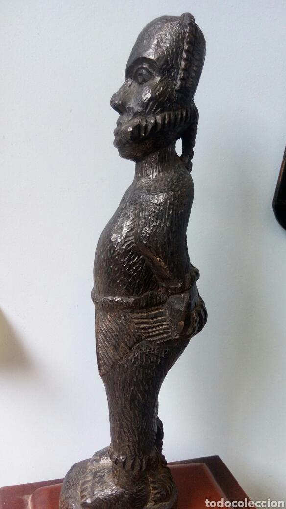 Arte: Talla de ébano antigua . Esclavo maniatado.Arte africano - Foto 2 - 85293908