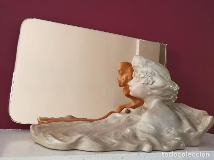Arte: Lambert Escaler - Escultura modernista con espejo rosado - Foto 4 - 85322880