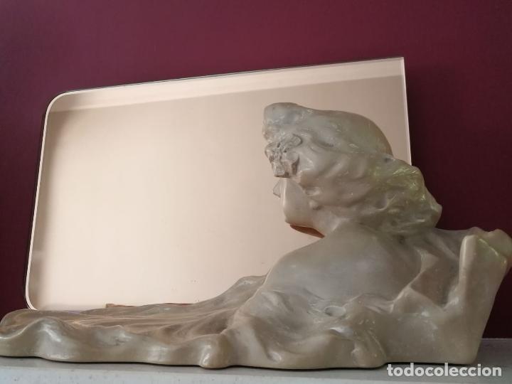 Arte: Lambert Escaler - Escultura modernista con espejo rosado - Foto 5 - 85322880