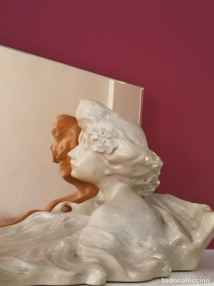 Arte: Lambert Escaler - Escultura modernista con espejo rosado - Foto 6 - 85322880