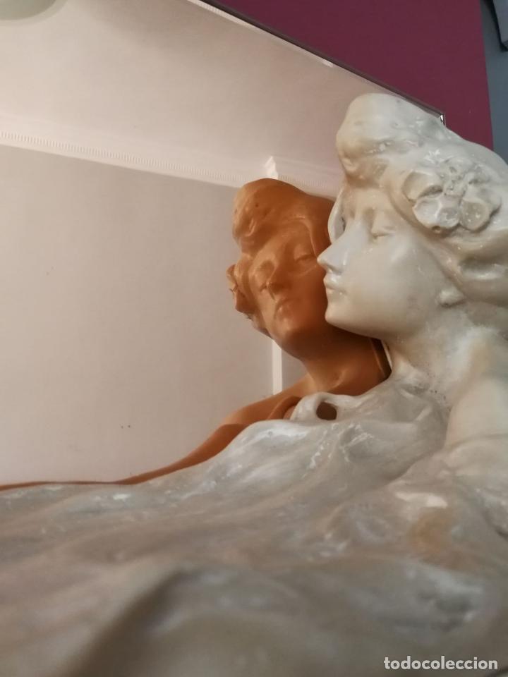 Arte: Lambert Escaler - Escultura modernista con espejo rosado - Foto 8 - 85322880
