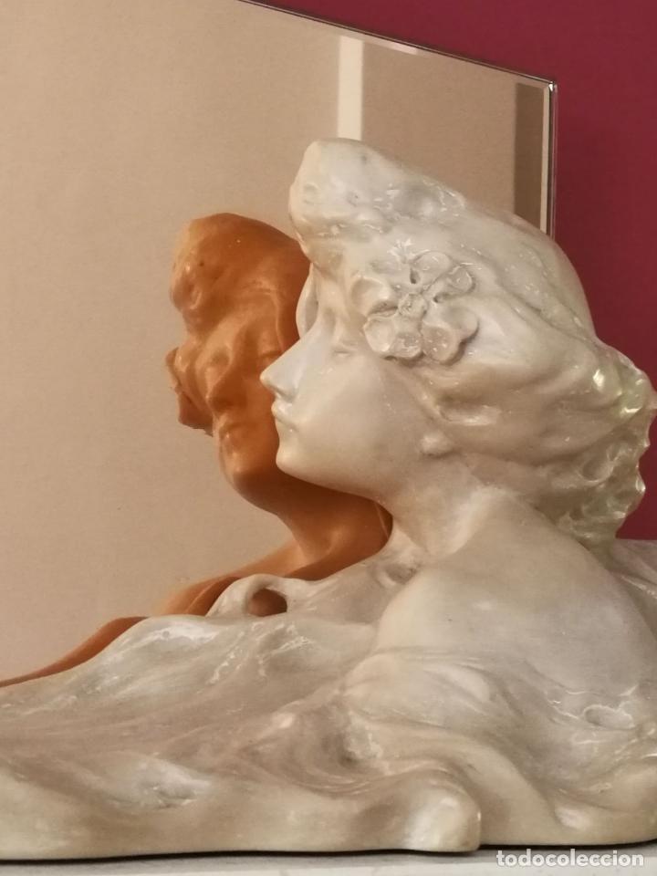 Arte: Lambert Escaler - Escultura modernista con espejo rosado - Foto 9 - 85322880