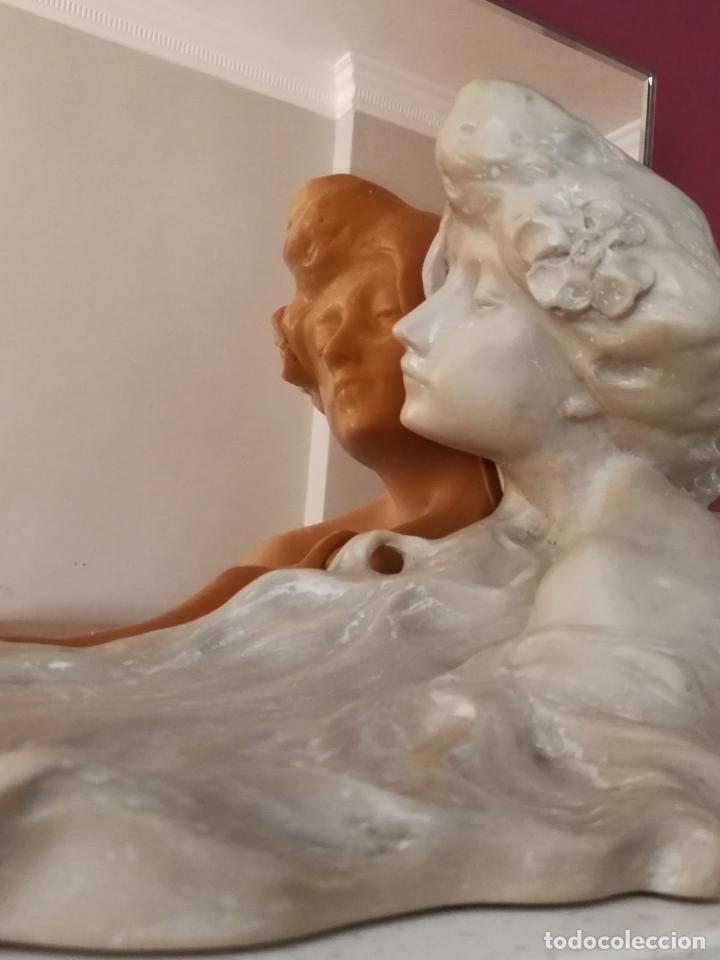 Arte: Lambert Escaler - Escultura modernista con espejo rosado - Foto 11 - 85322880