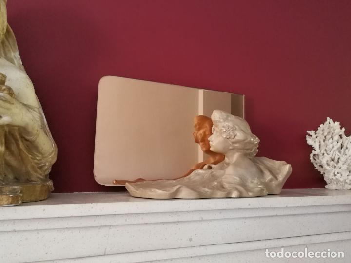 Arte: Lambert Escaler - Escultura modernista con espejo rosado - Foto 12 - 85322880