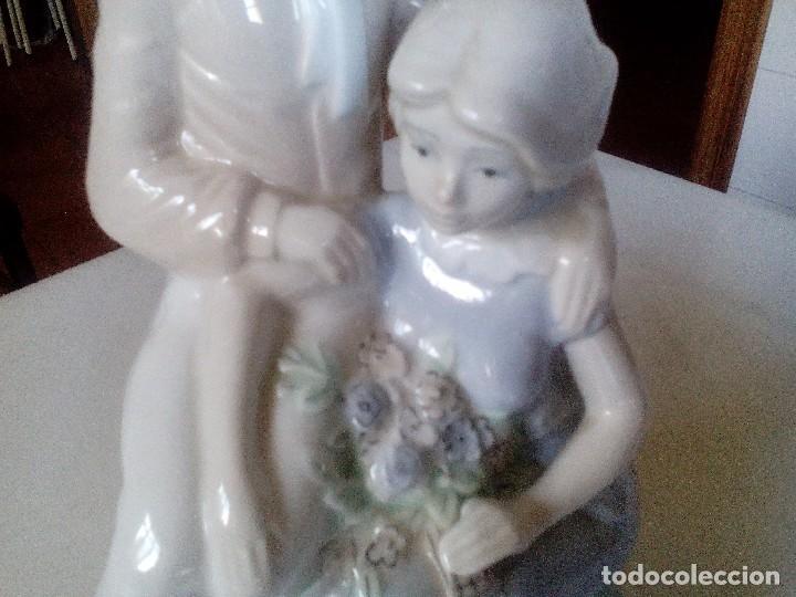 Arte: Pareja romántica de porcelana fina - Foto 2 - 85342324