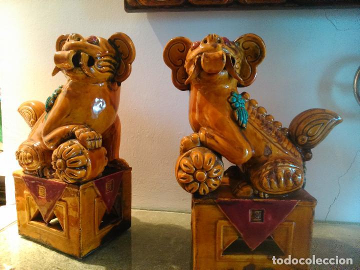 PAREJA PERROS FOO (Arte - Escultura - Porcelana)