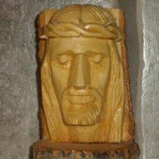 Arte: TALLA EN MADERA DE CRISTO,JESUS,HECHO A MANO.. Lote 85914236