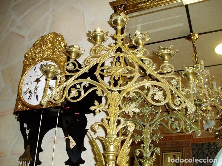 Arte: CANDELABROS ANTIGUOS NEOGÓTICOS DE BRONCE. FINALES DEL XIX, PRINCIPIOS DEL SIGLO XX - Foto 5 - 86131488