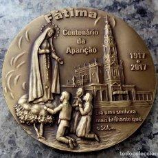 Arte: MEDALLON BRONCE VISITA DEL PAPA FRANCISCO A PORTUGAL Y CENTENARIO APARICION DE LA VIRGEN DE FÁTIMA. Lote 86529383