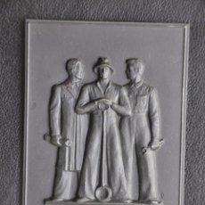 Arte: ESCULTURA DE HIERRO , PLACA DE COLGAR . BUDERUS 1951 , GEGOSSENE DUSSELDORF . Lote 86927608