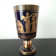 Arte: EXCEKENTE COPA DE PORCELANA GREECE EH 24K GOLD. Lote 86942356