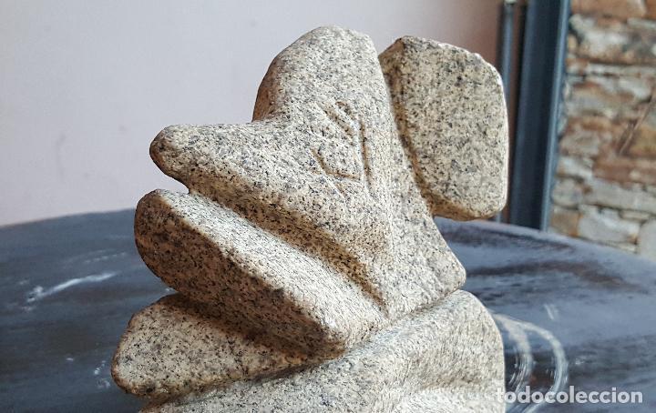 Arte: Figura abstracta firmada. Arte en piedra. Escultura piedra firmada. - Foto 5 - 86997068