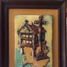 Arte: HORREO Y CRUCERO,AZULEJO ESMALTADO Y VIDRIADO DE CEDONOSA AÑO 70 . Lote 87383024