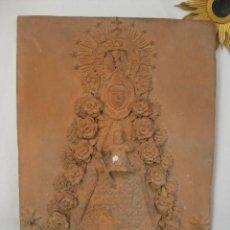 Arte: ENORME RETABLO ESCULTURA TERRACOTA BARRO CA 1920 VIRGEN DEL ROCIO SEVILLA ARRANDO. Lote 171730837