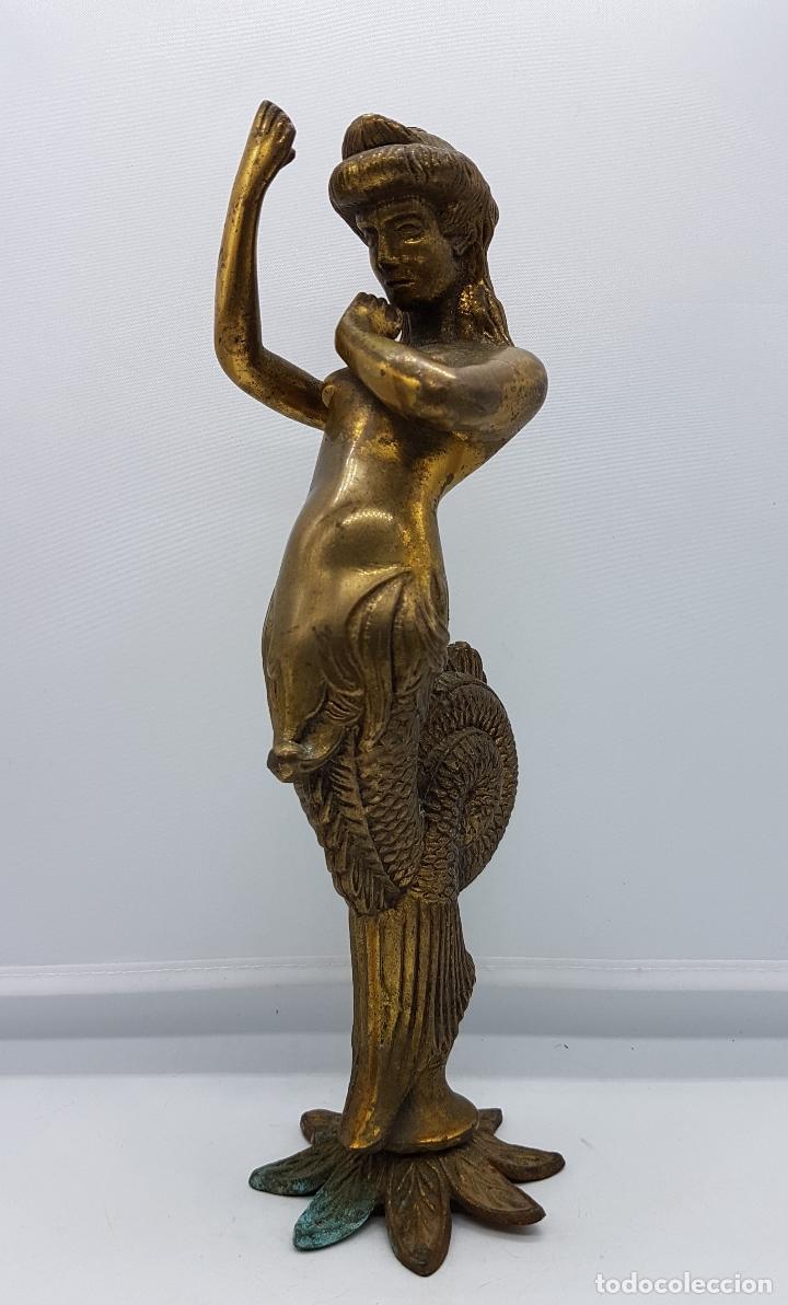 Arte: Escultura antigua de rey de la mitología griega cécrope en bronce macizo cincelado a mano . - Foto 2 - 87589352