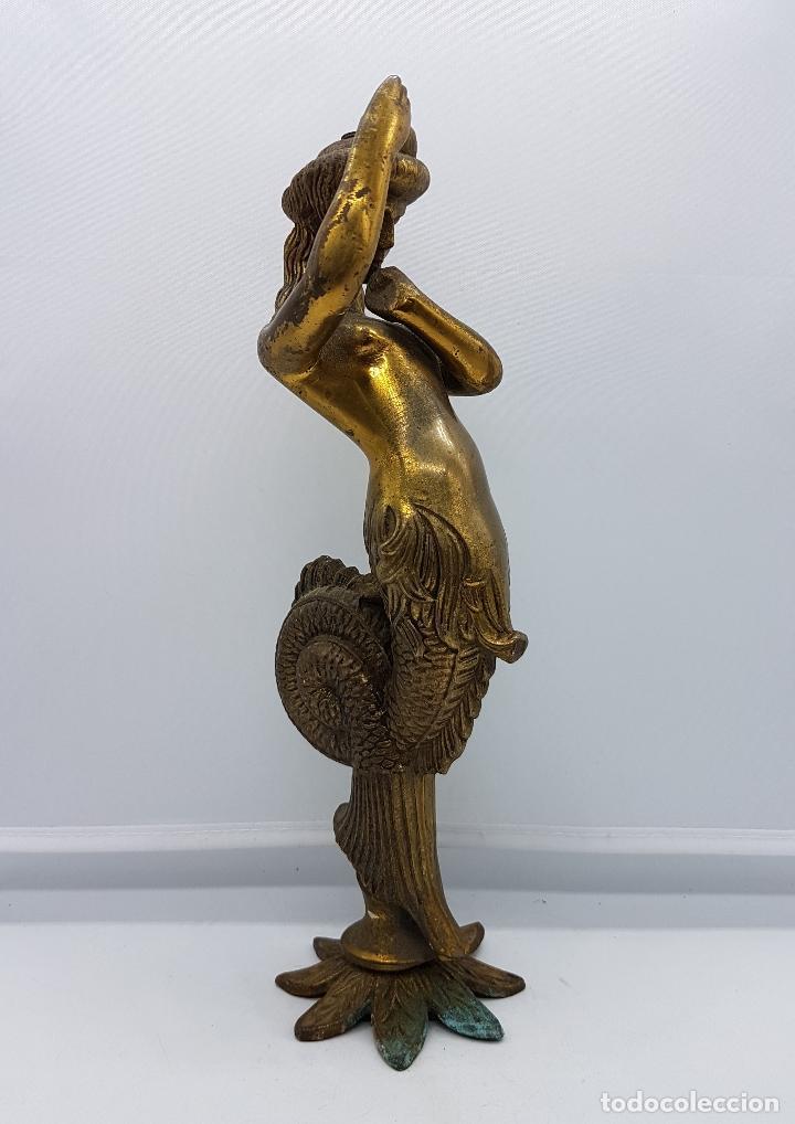 Arte: Escultura antigua de rey de la mitología griega cécrope en bronce macizo cincelado a mano . - Foto 3 - 87589352