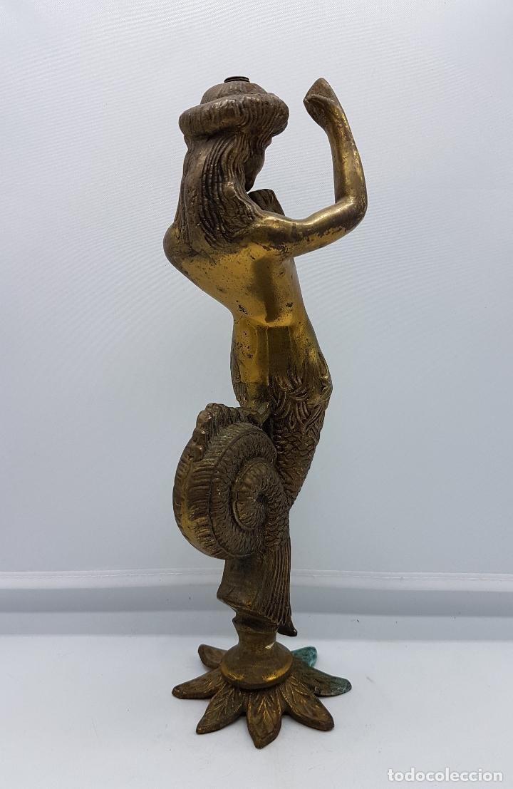 Arte: Escultura antigua de rey de la mitología griega cécrope en bronce macizo cincelado a mano . - Foto 5 - 87589352