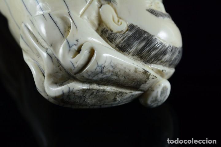 Arte: Bella Escultura talla de marfil de carácter costumbrista , sello en la parte posterior - Foto 5 - 107489362
