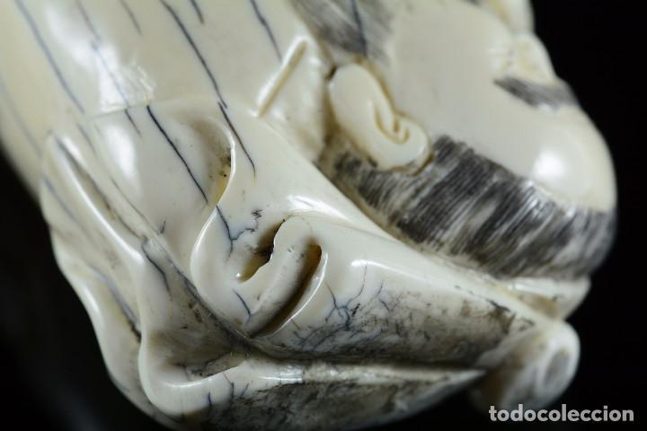 Arte: Bella Escultura talla de marfil de carácter costumbrista , sello en la parte posterior - Foto 6 - 107489362