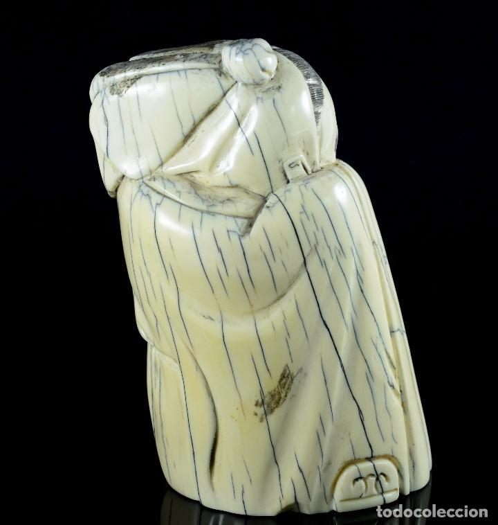Arte: Bella Escultura talla de marfil de carácter costumbrista , sello en la parte posterior - Foto 8 - 107489362