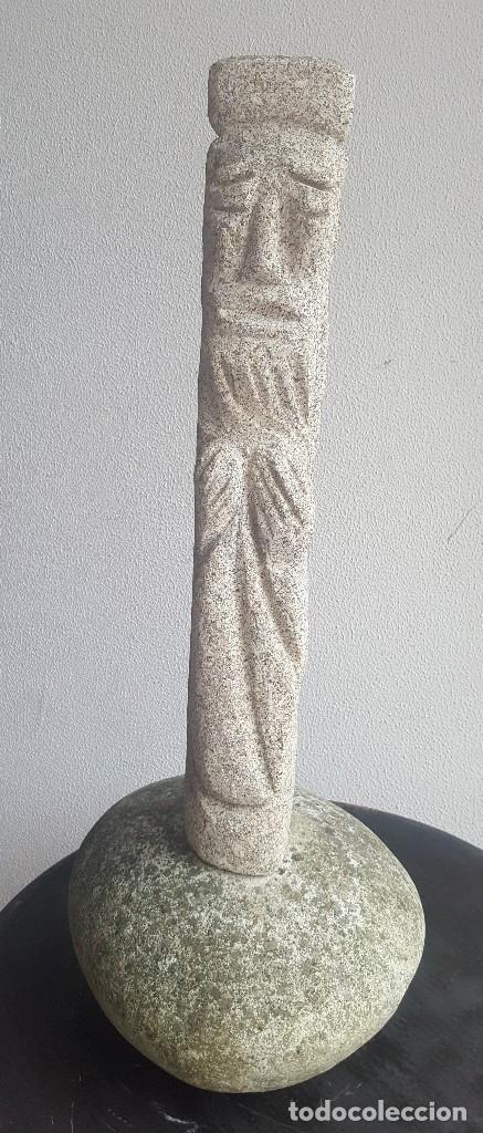 ESCULTURA PIEDRA PERSONAJE. (Arte - Escultura - Piedra)