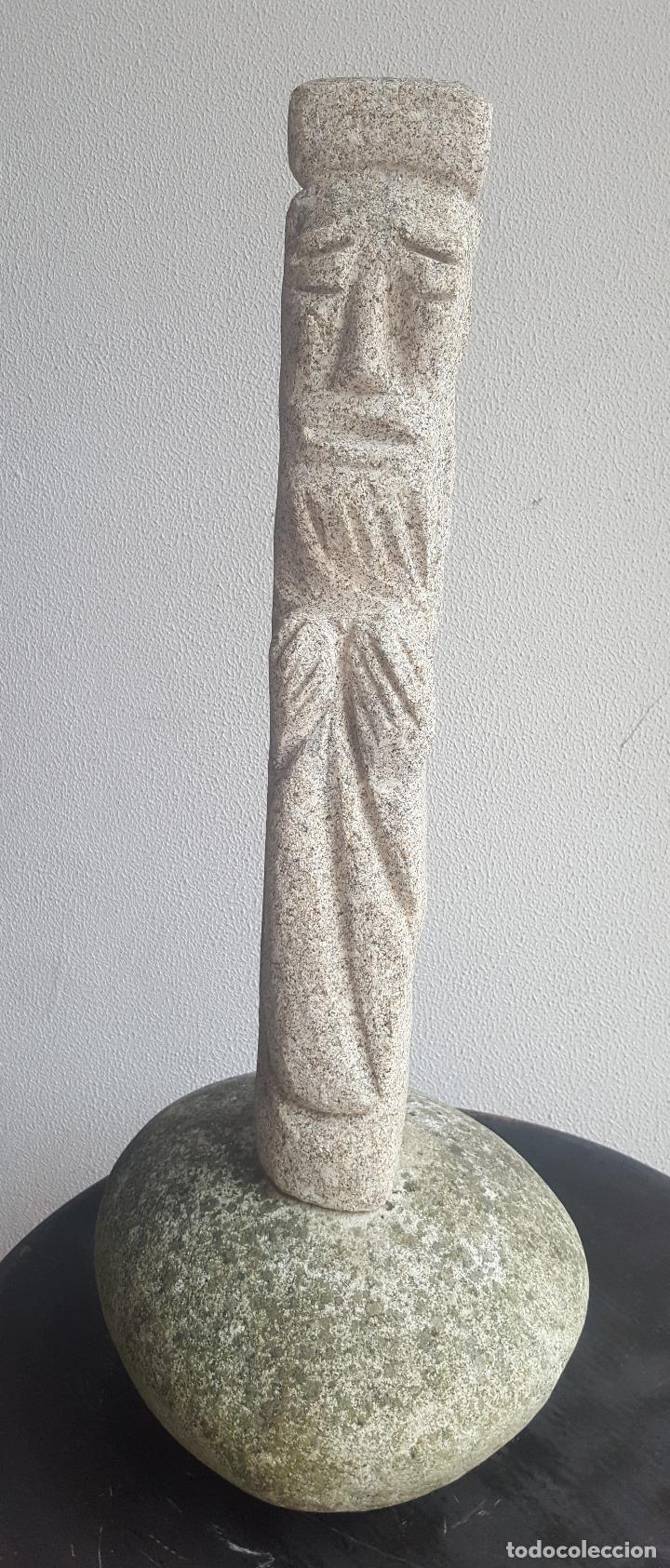 Arte: Escultura piedra personaje. - Foto 2 - 88964440