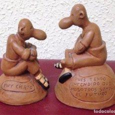 Arte: DOS FIGURAS DE TERRACOTA FIRMADAS POR FORGES. Lote 89071168