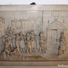 Arte: CARL L. F. BECKER (1820-1900) - ENTRANDO A LA IGLESIA - ALABASTRO TALLADO - SIGLO XIX. Lote 89569324