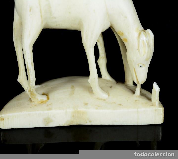 Arte: Antigua escultura marfil animal - Foto 2 - 90138800