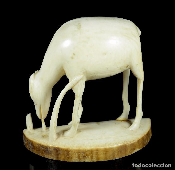 Arte: Antigua escultura marfil animal - Foto 4 - 90138800