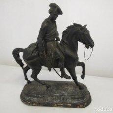 Arte: ESCULTURA ECUESTRE, TITULADA WAVERLEY. GRABADO EL NOMBRE DEL ESCULTOR EUGENE LAURENT (1832-1898). Lote 90420064