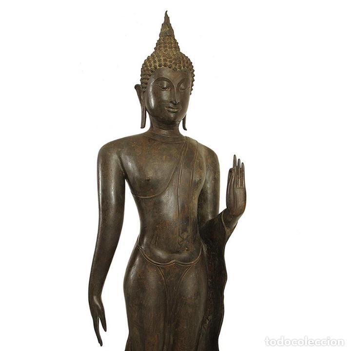 Arte: Impresionante bronce de Buda Sukothai de la bienvenida. 193cm de alto - Foto 2 - 90507250