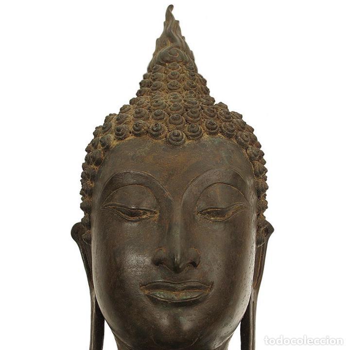 Arte: Impresionante bronce de Buda Sukothai de la bienvenida. 193cm de alto - Foto 3 - 90507250