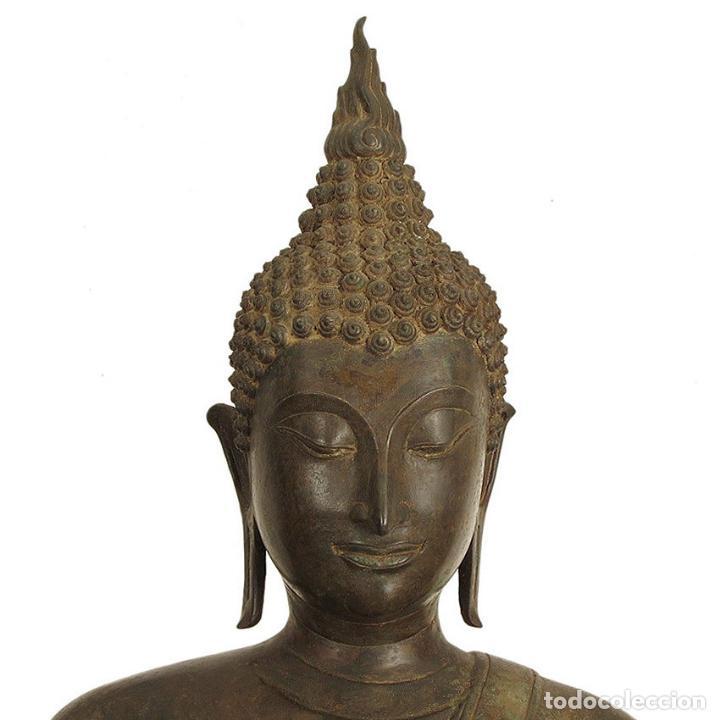Arte: Impresionante bronce de Buda Sukothai de la bienvenida. 193cm de alto - Foto 4 - 90507250