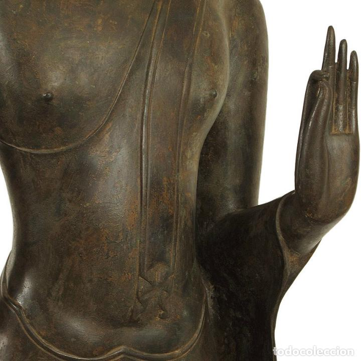 Arte: Impresionante bronce de Buda Sukothai de la bienvenida. 193cm de alto - Foto 5 - 90507250