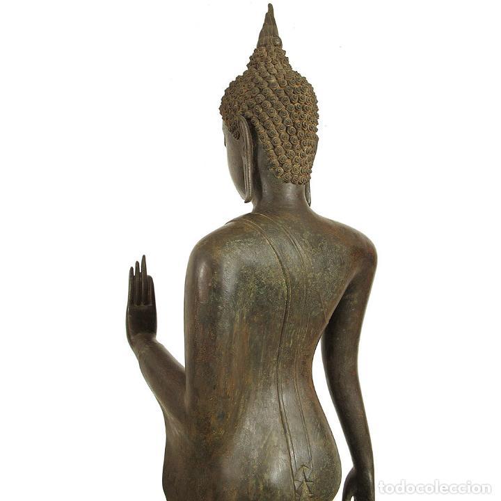Arte: Impresionante bronce de Buda Sukothai de la bienvenida. 193cm de alto - Foto 6 - 90507250