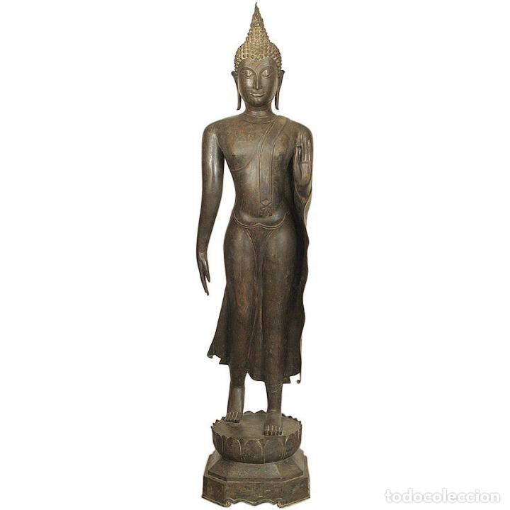 Arte: Impresionante bronce de Buda Sukothai de la bienvenida. 193cm de alto - Foto 8 - 90507250