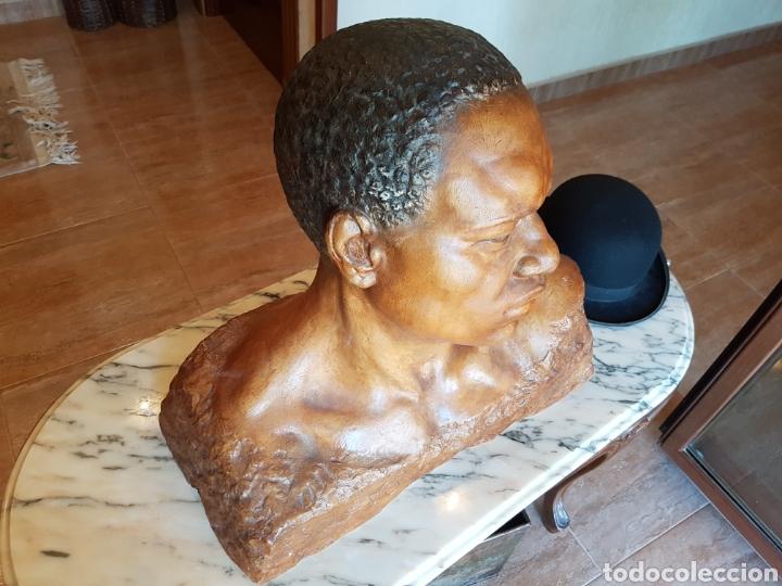 Arte: El esclavo , PERESEJO (1887-1978) JOSE PEREZ PEREZ.Ver descripción. BARCELONA, ALCOY - Foto 2 - 90958974