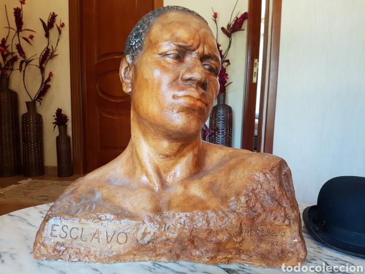 Arte: El esclavo , PERESEJO (1887-1978) JOSE PEREZ PEREZ.Ver descripción. BARCELONA, ALCOY - Foto 5 - 90958974