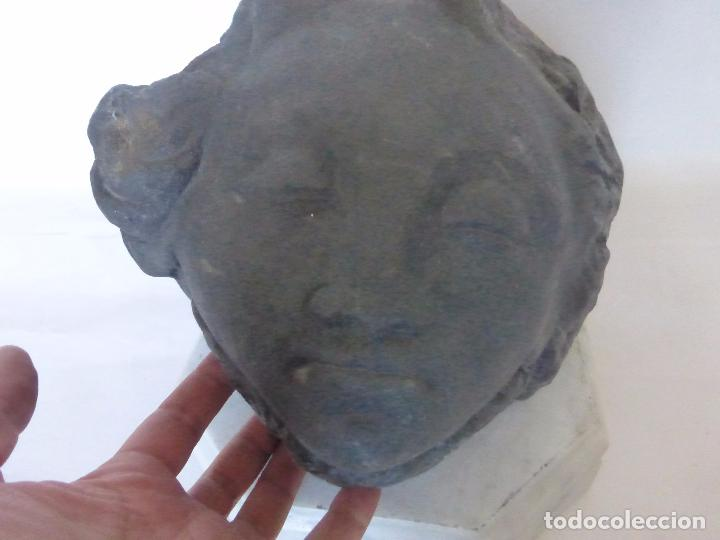 Arte: ESCULTOR SEVERIANO GRANDE-SALAMANCA-ORIGINAL ESCULTURA EN PIEDRA DURA CON FIRMA-ESPECTACULAR CABEZA- - Foto 4 - 91070540
