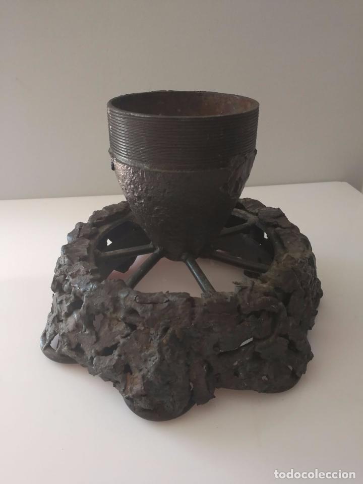 BASE DE BOMBA - ESCULTURA BRUTALISTA DE FORJA EN HIERRO - 12 KG (Arte - Escultura - Hierro)
