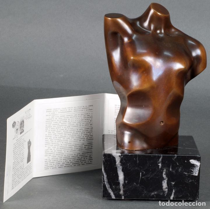 ESCULTURA MARTE TORSO MASCULINO BRONCE PATINADO JOSÉ TORRES GUARDIA FIRMADO NUMERADO CERTIFICADO (Arte - Escultura - Bronce)