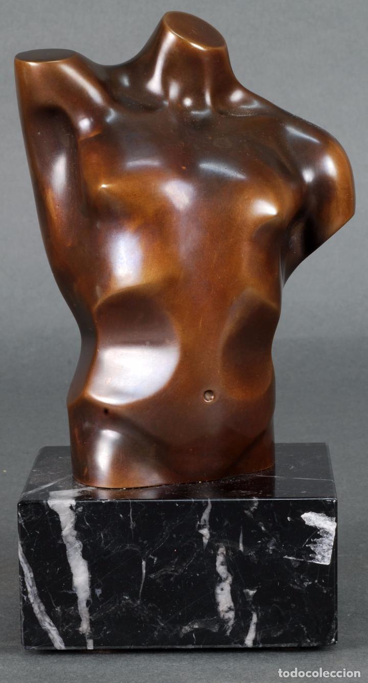 Arte: Escultura Marte torso masculino bronce patinado José Torres Guardia firmado numerado certificado - Foto 2 - 92994355