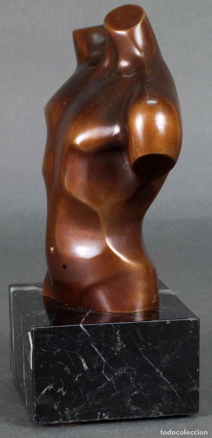 Arte: Escultura Marte torso masculino bronce patinado José Torres Guardia firmado numerado certificado - Foto 3 - 92994355