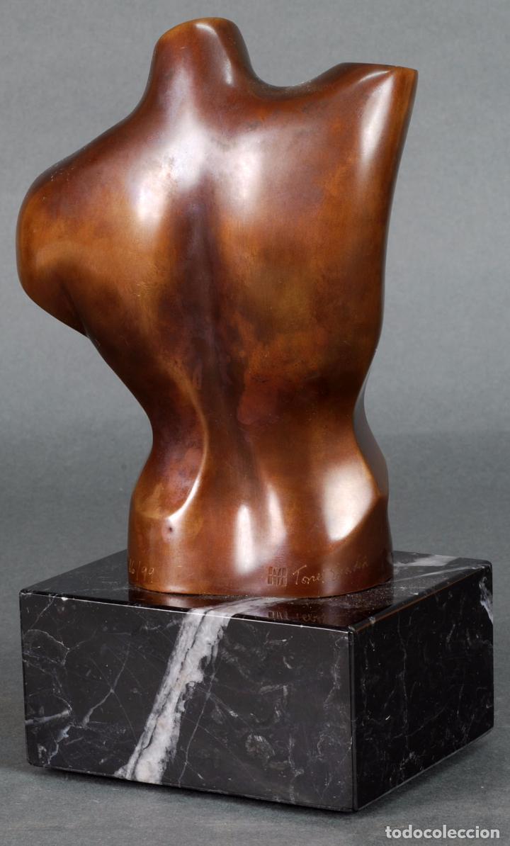 Arte: Escultura Marte torso masculino bronce patinado José Torres Guardia firmado numerado certificado - Foto 4 - 92994355