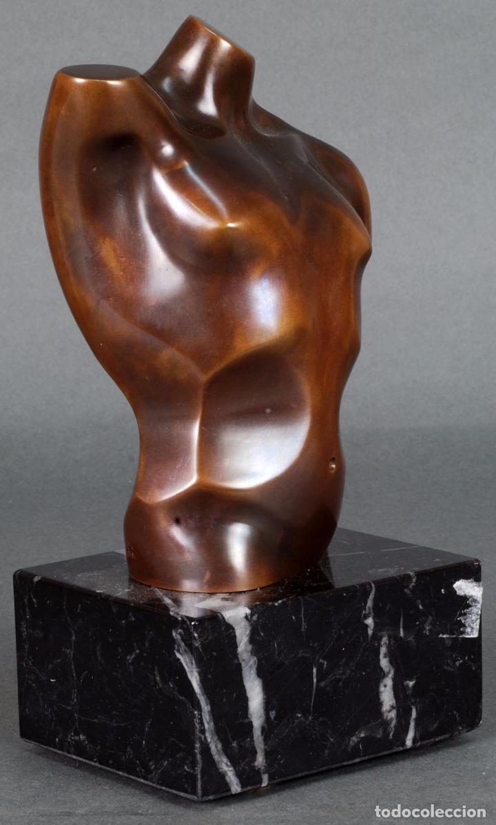 Arte: Escultura Marte torso masculino bronce patinado José Torres Guardia firmado numerado certificado - Foto 5 - 92994355