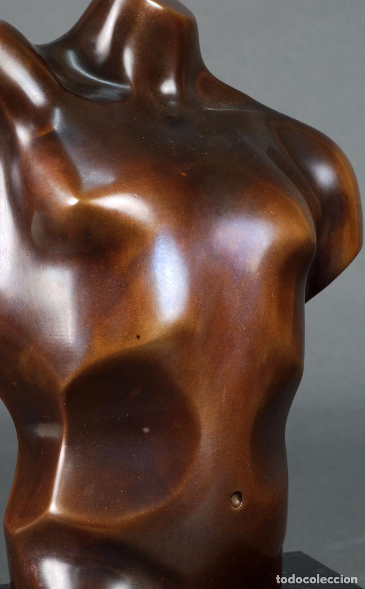 Arte: Escultura Marte torso masculino bronce patinado José Torres Guardia firmado numerado certificado - Foto 6 - 92994355